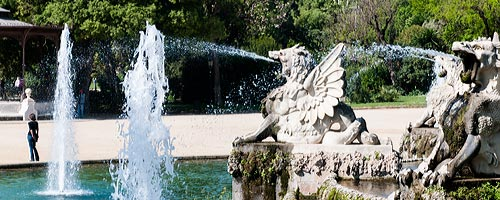 Sightseeing Barcelona: A part of the fountain at the Park de la ciutadella.