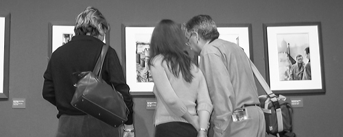 An image of visitors enjoying the CaixaForum museum in Barcelona.