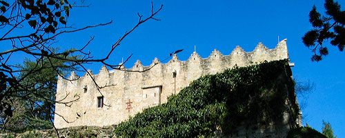 Sightseeing Montesquiu Castle: an image of the castle.